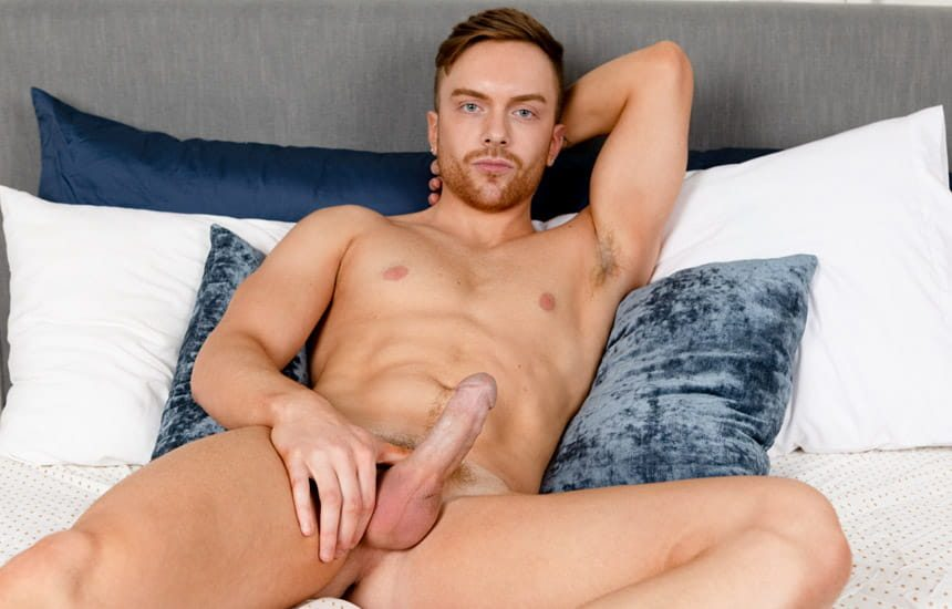 Stag Collective: Bearded redhead Nick Thompson jerks off and gives himself a facial