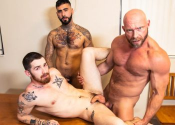 """Masqulin: Killian Knox and Rikk York fuck Nick Milani in """"Who's Your Daddy?"""" (part 2)"""