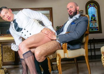 "Men At Play: Bruno Max raw-fucks Ruslan Angelo in ""Butler Service"" (part 2)"