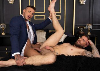 "MEN: Klein Kerr slams his raw cock deep into Rico Vega's ass in ""Better With Clothes On"""