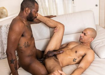 "Noir Male: Hung neighbor August Alexander drills Zario Travezz' ass in ""The Gayborhood"""