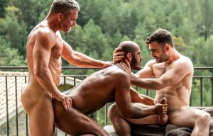 "Max Arion, Tomas Brand and Louis Ricaute fuck in ""Daddy's Bitch Boys"" (scene 3)"
