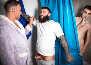 """MEN: Alex Mecum, Markus Kage and Ryan Jacobs fuck in """"Glory-ous Shower Fuck"""""""