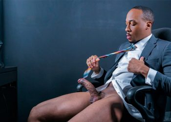 """Men At Play: Trent King jerks off and fucks himself with a big dildo in """"iBreak"""""""