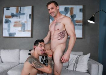 Stag Collective: Damien White pounds Kian Kane's hole and coats his face with cum