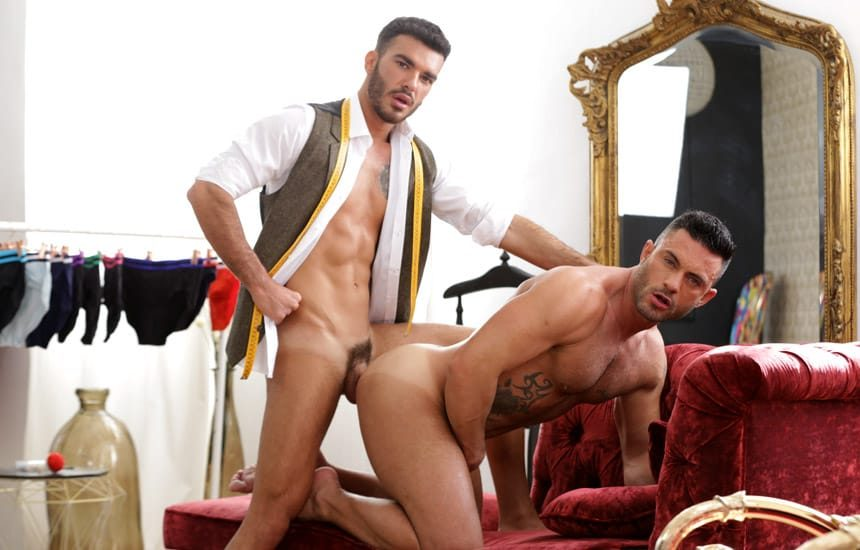 """MEN: Pol Prince gives Andy Star a deep pounding in """"The Tailor And The Big Tail"""""""