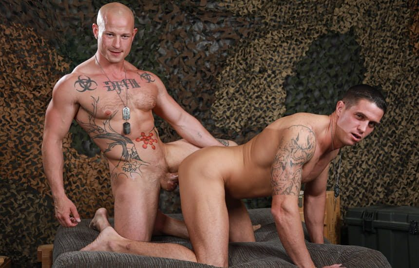 Active Duty: Nick Clay and Niko Carr suck and fuck each other