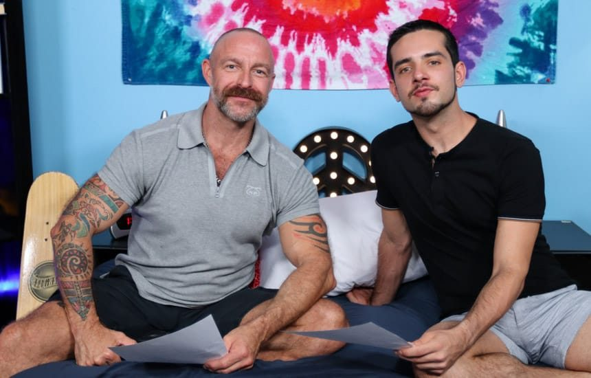 """Pride Studios: Aiden Joseph & Musclebear Montreal in """"Learning Lines With My Stepfather"""""""