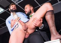 """Men At Play: Dani Robles bottoms for Sir Peter and takes his fat cock in """"Polygraph"""""""