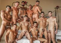 """The 11-man bareback orgy continues in """"Plowed, Pounded, Pummeled"""" (scene 3)"""