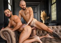 """Sean Austin bottoms for Jeffrey Lloyd & takes his big dick in """"Plowed, Pounded, Pummeled"""" (scene 4)"""