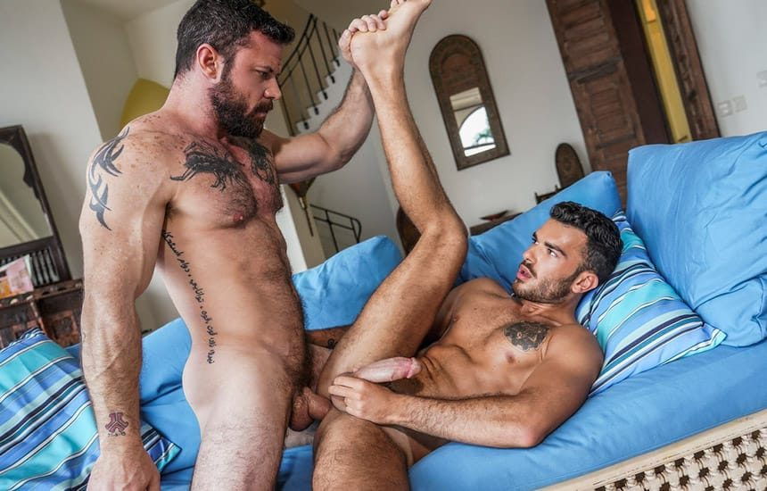 """Sergeant Miles fucks Pol Prince in """"Submitting To Sergeant Miles"""" (scene 1)"""