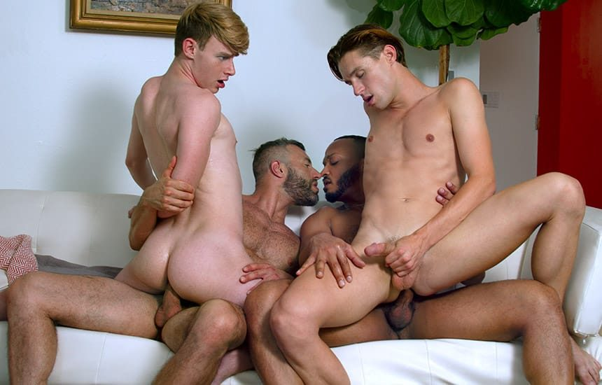 """Shae Reynolds, Eric Charming, Dillon Diaz & Cole Connor in """"Making The Grade"""" (scene 5)"""