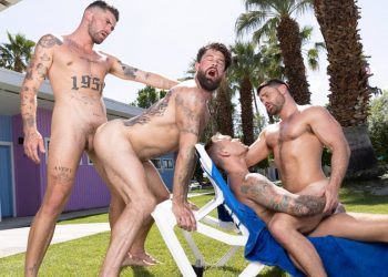"""Raging Stallion: Chris Damned, Isaac X, Beau Butler & Alpha Wolfe in """"Get A Room Too"""" (sc 5)"""