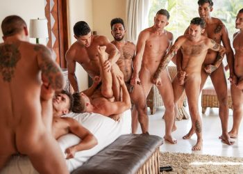 Lucas Men's Hot-And-Heavy Orgy (part 2) from Lucas Entertainment