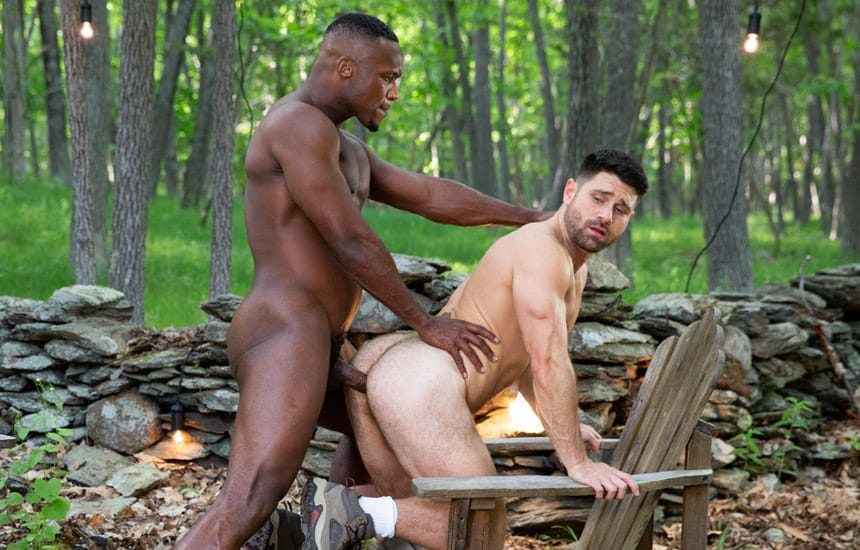"""Raging Stallion: Andre Donovan pounds Beau Butler's ass in """"The Territory"""" (scene 5)"""