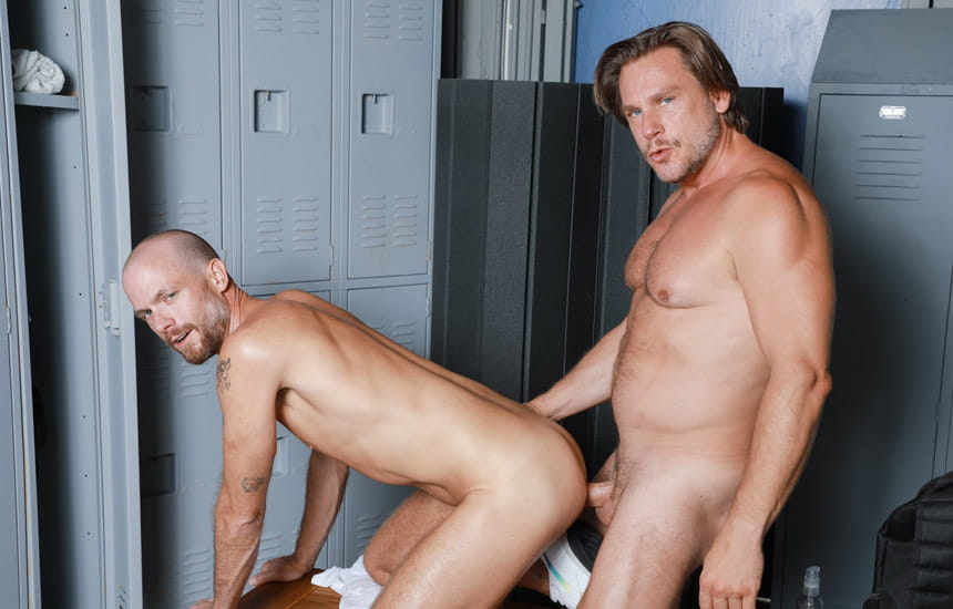 """Pride Studios: Jake Lawrence and Hans Berlin flip-fuck in """"Aged To Perfection"""""""