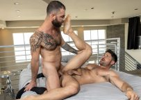 """Raging Stallion: Jake Nicola gives Beau Butler a raw pounding in """"Just Sex"""" (scene 1)"""